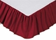 Solid Red King Bedskirt