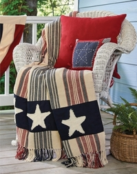 Star Spangled Patriotic Woven Throw