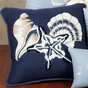 Starfish Shell Pillow by Eileen Rosenfeld