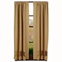 Stratton Brown Star Panel Drapes (63x36)