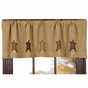 Stratton Brown Star Window Valance