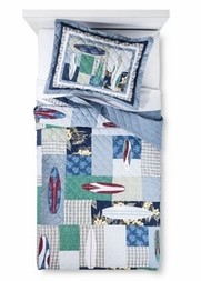 Surfing USA Surf Board Quilt Set