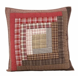 Tacoma Quilted Plaid Euro Sham