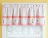 Tara Stripe Pink Window Valance
