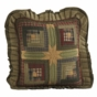 Tea Cabin Quilted Ruffled Accent Pillow