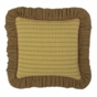 Tea Cabin Ruffled Accent Pillow