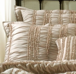Tiana Taupe Ruched STANDARD Sham