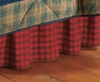 Timberline Red Buffalo Check Dust Ruffle Bedskirt