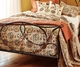Andorra Tuscan Mocha Brown Medallion Quilt Set