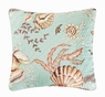 Under the Sea GREEN Quilted Accent Pillow