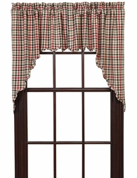Victory Plaid Window Swag Valance