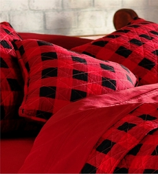 Western Red Buffalo Plaid Accent Pillow