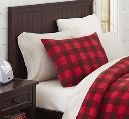 Western Red Buffalo Plaid King Sham