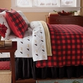 Western Red Buffalo Check Plaid Quilt Set