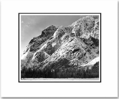 "CLIFFS OF GLACIER POINT, YOSEMITE NAT'L PARK. Large Ansel Adams Matted Reproduction (16"" x 20"")"