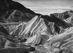 "DEATH VALLEY WEST FROM ZABRISKIE POINT Large Ansel Adams Matted Reproduction (16"" x 20"")"
