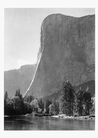 EL CAPITAN, MERCED RIVER, AGAINST SUN, YOSEMITE VALLEY, CA, 1950