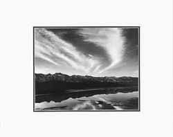 """ANSEL ADAMS - EVENING CLOUDS AND POOL, EAST SIDE OF THE SIERRA NEVADAS FROM OWENS VALLEY, CALIFORNIA Large Ansel Adams Matted Reproduction (16"""" x 20"""")"""