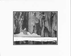 """ANSEL ADAMS - FROZEN LAKE AND CLIFFS, SIERRA NEVADA, CALIFORNIA  Large Ansel Adams Matted Reproduction (16"""" x 20"""")"""