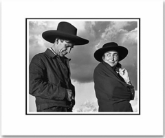 """ANSEL ADAMS - GEORGIA OKEEFFE AND ORVILLE COX, CANYON DE CHELLEY NAT'L MONUMENT, AZ  Large Ansel Adams Matted Reproduction (16"""" x 20"""")"""