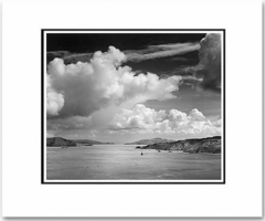"""ANSEL ADAMS - GOLDEN GATE BEFORE THE BRIDGE, SAN FRANCISCO  Large Ansel Adams Matted Reproduction (16"""" x 20"""")"""