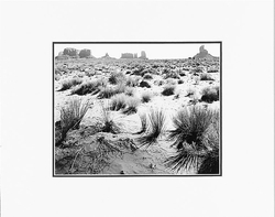 "MONUMENT VALLEY, ARIZONA  Large Ansel Adams Matted Reproduction (16"" x 20"")"