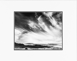 """ANSEL ADAMS - MOON AND CLOUDS, NORTHERN CALIFORNIA  Large Ansel Adams Matted Reproduction (16"""" x 20"""")"""