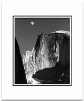 MOON & HALF DOME, YOSEMITE (8 x 10)
