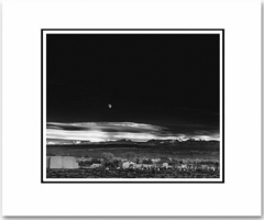 "MOONRISE,  HERNANDEZ,  NEW MEXICO 1941 Large Ansel Adams Matted Reproduction (16"" x 20"")  (OUT OF STOCK)"
