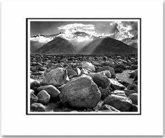 "MOUNT WILLIAMSON, SIERRA NEVADA, CALIFORNIA  Large Ansel Adams Matted Reproduction (16"" x 20"")"