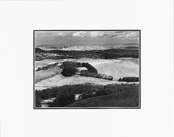 """SAN FRANCISCO FROM SAN BRUNO MOUNTAIN, CALIFORNIA  Large Ansel Adams Matted Reproduction (16"""" x 20"""")"""