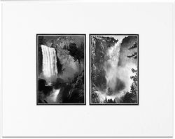 Vernal Fall and Bridalveil Fall,Yosemite National Park, CA 1945/1927  (OUT OF STOCK)
