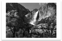 YOSEMITE FALLS AND MEADOW, YOSEMITE NATIONAL PARK, CA, c 1953