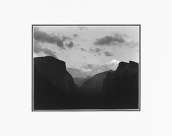 "YOSEMITE VALLEY FROM ESPLANDE, YOSEMITE NAT'L PARK, CA   Large Ansel Adams Matted Reproduction (16"" x 20"")"