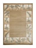 Biege Bahamas Palm Tree Rug 2319