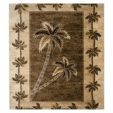 Biege Bahamas Palm Tree Rug 2321