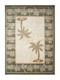 Biege/Bone  Bahamas Palm Tree Rug 2320