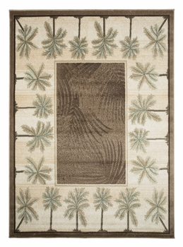 Beige/Bone  Bahamas Palm Tree Rug 2321