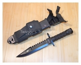 Black Commando Knife-HK-56142B-MC