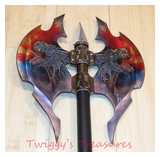 Double Bladed Fantasy Dragon Axe KX6602-PS
