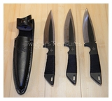 Kit Rae Set of 3 Black Jet Throwing Knives<br> KR0032B