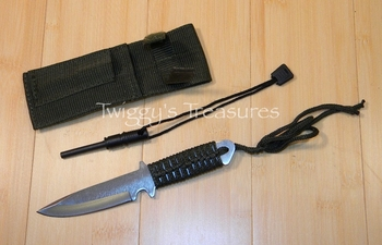 Knife with Magnesium Fire Starter-KC-7764-PS