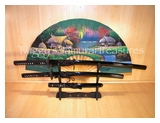 Last Samurai Full Tang Sword Set SS012BK4-1-PS