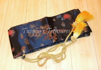 Luxurious Silk Samurai Sword Bag-RC2836​BK-1-PS