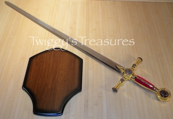 Masonic Knight Templar<br> Ceremonial Sword <br>SB4915RD-PS