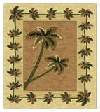 Mustard Bahamas Palm Tree Rug 2318