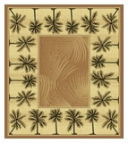 Mustard  Bahamas Palm Tree Rug 2321