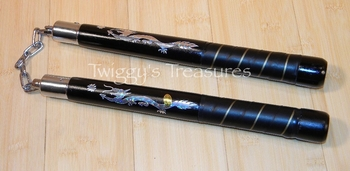Nunchucks Leather Wrapped C133PL