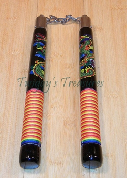 Nunchucks with Orange Stripes NC256-WJ