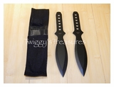 Set of 2 Black Throwing Knives A1202BK